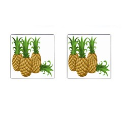 Pineapples Tropical Fruits Foods Cufflinks (Square)