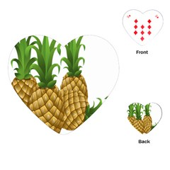 Pineapples Tropical Fruits Foods Playing Cards (Heart)