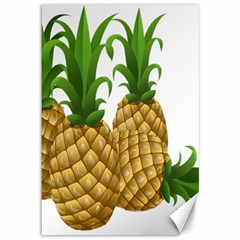 Pineapples Tropical Fruits Foods Canvas 12  x 18
