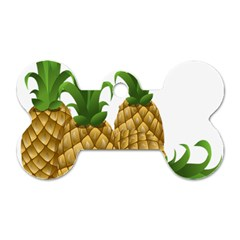 Pineapples Tropical Fruits Foods Dog Tag Bone (One Side)