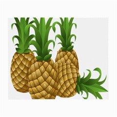 Pineapples Tropical Fruits Foods Small Glasses Cloth (2 Side)