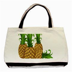 Pineapples Tropical Fruits Foods Basic Tote Bag (Two Sides)