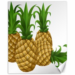 Pineapples Tropical Fruits Foods Canvas 11  x 14