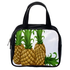 Pineapples Tropical Fruits Foods Classic Handbags (One Side)