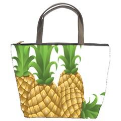 Pineapples Tropical Fruits Foods Bucket Bags