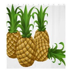 Pineapples Tropical Fruits Foods Shower Curtain 66  x 72  (Large)