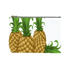 Pineapples Tropical Fruits Foods Cosmetic Bag (Large)