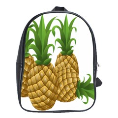 Pineapples Tropical Fruits Foods School Bags(Large)