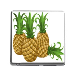 Pineapples Tropical Fruits Foods Memory Card Reader (Square)