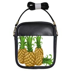 Pineapples Tropical Fruits Foods Girls Sling Bags