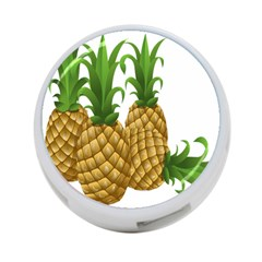 Pineapples Tropical Fruits Foods 4-Port USB Hub (Two Sides)