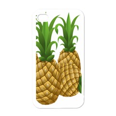 Pineapples Tropical Fruits Foods Apple iPhone 4 Case (White)