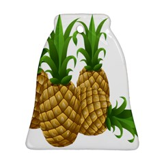 Pineapples Tropical Fruits Foods Ornament (Bell)