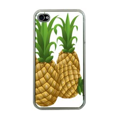 Pineapples Tropical Fruits Foods Apple iPhone 4 Case (Clear)