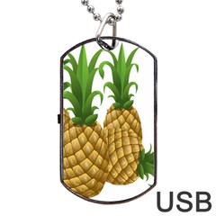 Pineapples Tropical Fruits Foods Dog Tag USB Flash (Two Sides)