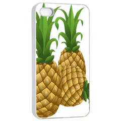 Pineapples Tropical Fruits Foods Apple iPhone 4/4s Seamless Case (White)
