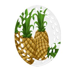Pineapples Tropical Fruits Foods Ornament (Oval Filigree)