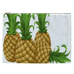 Pineapples Tropical Fruits Foods Cosmetic Bag (XXL)