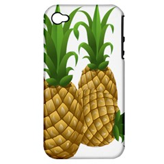 Pineapples Tropical Fruits Foods Apple iPhone 4/4S Hardshell Case (PC+Silicone)