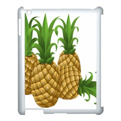 Pineapples Tropical Fruits Foods Apple iPad 3/4 Case (White)