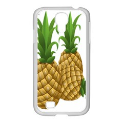 Pineapples Tropical Fruits Foods Samsung GALAXY S4 I9500/ I9505 Case (White)