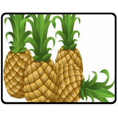 Pineapples Tropical Fruits Foods Double Sided Fleece Blanket (medium)