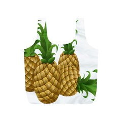 Pineapples Tropical Fruits Foods Full Print Recycle Bags (S)