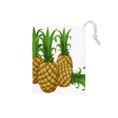 Pineapples Tropical Fruits Foods Drawstring Pouches (Small)