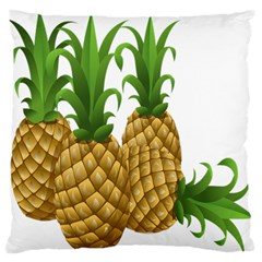 Pineapples Tropical Fruits Foods Large Flano Cushion Case (Two Sides)