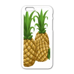 Pineapples Tropical Fruits Foods Apple iPhone 6/6S White Enamel Case