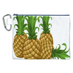 Pineapples Tropical Fruits Foods Canvas Cosmetic Bag (XXL)