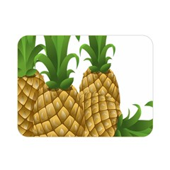 Pineapples Tropical Fruits Foods Double Sided Flano Blanket (Mini)