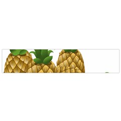 Pineapples Tropical Fruits Foods Flano Scarf (Small)