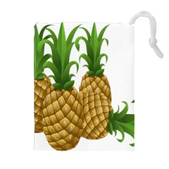 Pineapples Tropical Fruits Foods Drawstring Pouches (Extra Large)