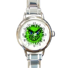 Monster Green Evil Common Round Italian Charm Watch