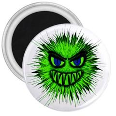 Monster Green Evil Common 3  Magnets