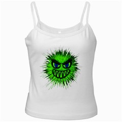 Monster Green Evil Common White Spaghetti Tank