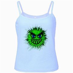 Monster Green Evil Common Baby Blue Spaghetti Tank