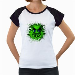 Monster Green Evil Common Women s Cap Sleeve T