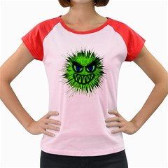 Monster Green Evil Common Women s Cap Sleeve T-Shirt