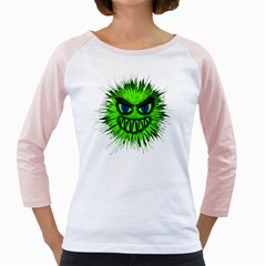 Monster Green Evil Common Girly Raglans