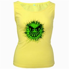 Monster Green Evil Common Women s Yellow Tank Top
