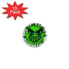 Monster Green Evil Common 1  Mini Magnet (10 pack)