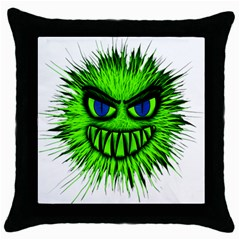 Monster Green Evil Common Throw Pillow Case (Black)