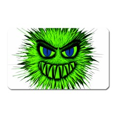 Monster Green Evil Common Magnet (Rectangular)