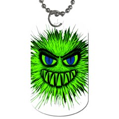 Monster Green Evil Common Dog Tag (one Side)