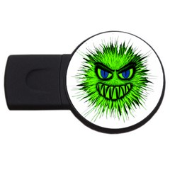 Monster Green Evil Common USB Flash Drive Round (2 GB)