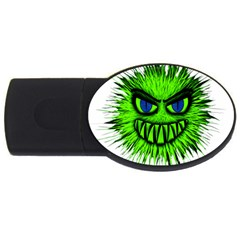 Monster Green Evil Common USB Flash Drive Oval (2 GB)