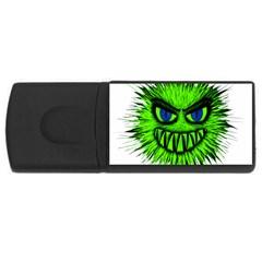 Monster Green Evil Common USB Flash Drive Rectangular (4 GB)