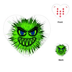 Monster Green Evil Common Playing Cards (Heart)
